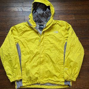 Men's The North Face Yellow Gray Hyvent Jacket L
